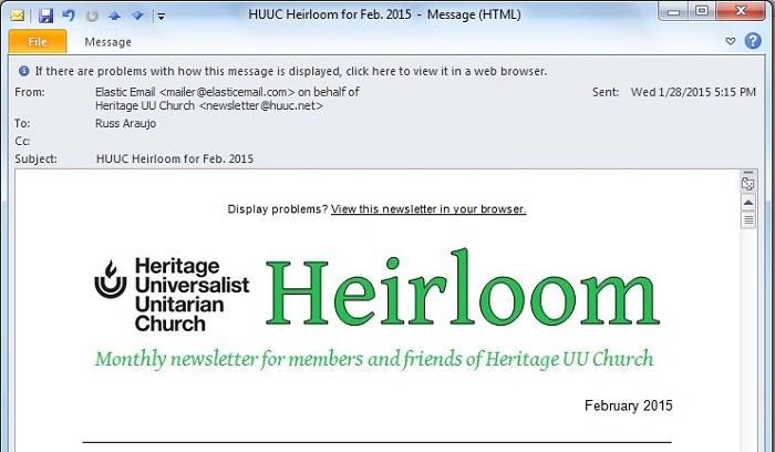 Heirloom for February 2015