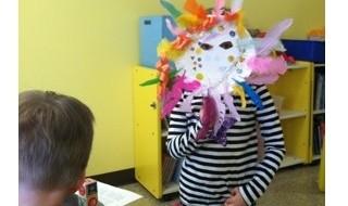 Child Behind Mask