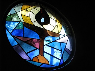 UU Chalice Stained Glass Window