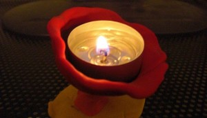 Clay Chalice with Flame