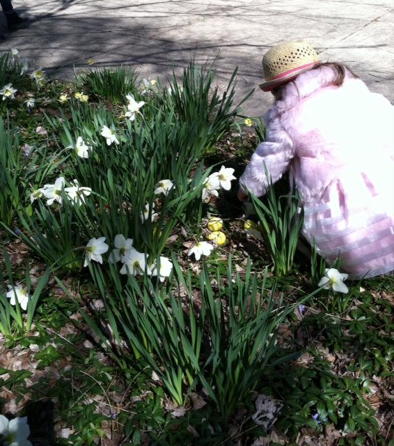 Easter Flowers Outside