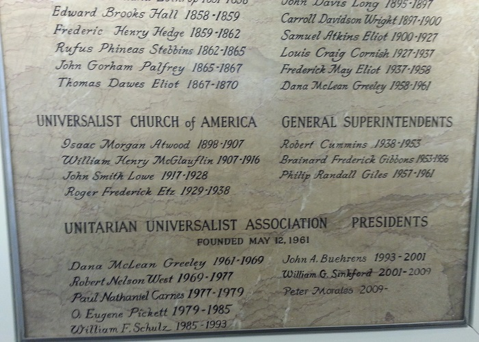 Detail of Stone Tablet at UUA Headquarters
