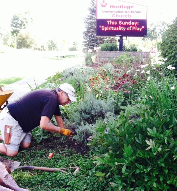 Working in the Garden, August 2015