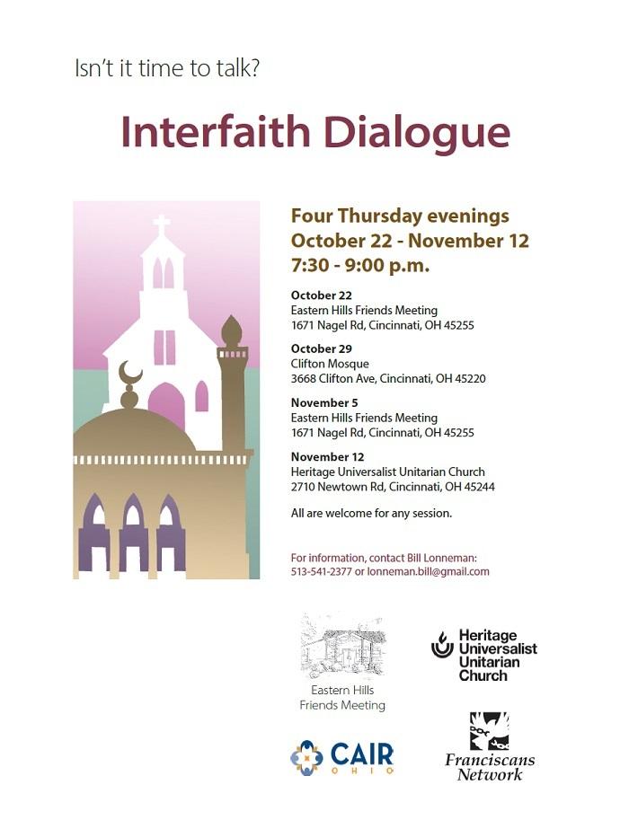 Interfaith Dialogue Schedule, Fall 2015