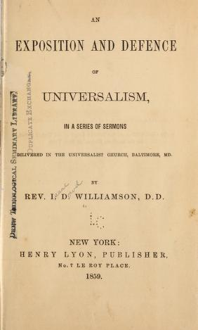 An Exposition and Defense of Universalism (book cover)