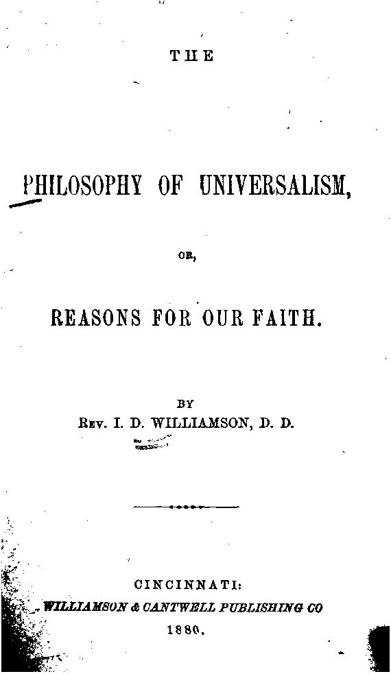 The Philosophy of Universalism (book cover)