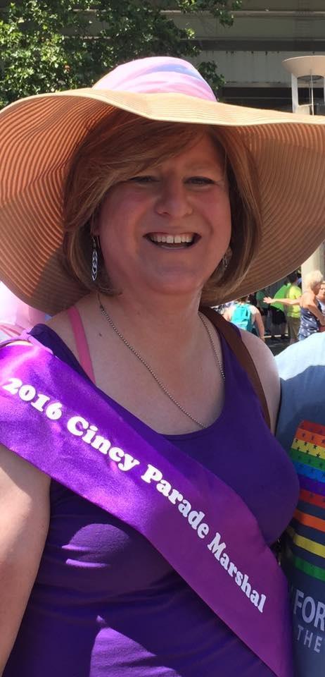 Jen Henderson, Co-Grand Marshal of the Cincinnati Pride Parade, 2016