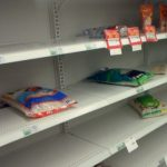 Critically Low Amount of Food and Supplies on the Pantry Shelves