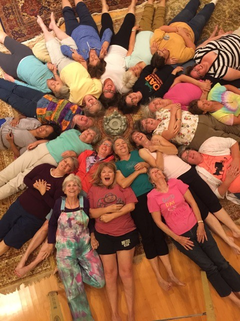 Women's Retreat 2016 heads in a circle
