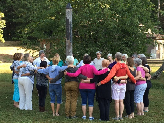 Women's Retreat 2016 standing circle