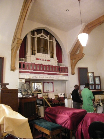 Inside the Essex Street Church Building, Cincinnati, Ohio