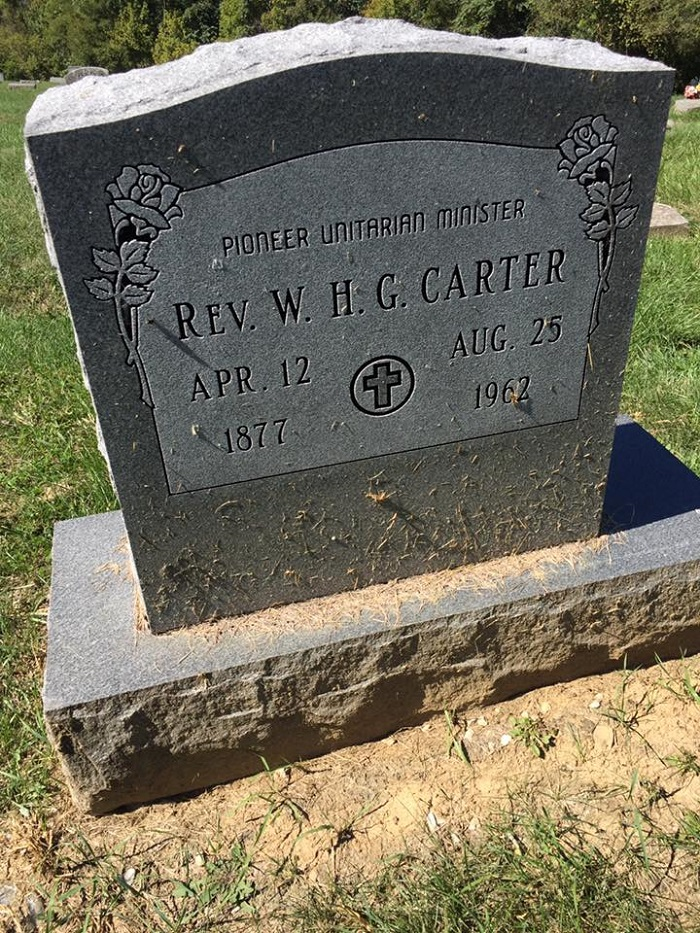 Carter gravestone, in the cemetery behind The Gathering at Northern Hills, Cincinnati, Ohio