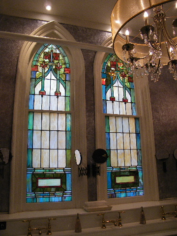A stained glass window in the old building of St. John's Unitarian Church, Cincinnati, Ohio