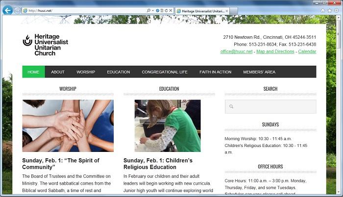 Website Screenshot on January 27, 2015