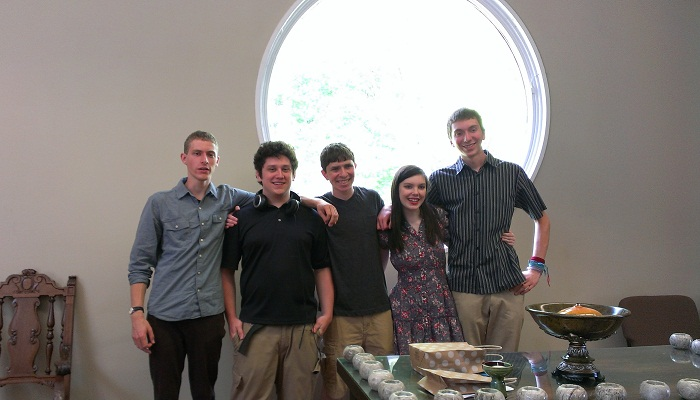 Five Youth in front of the Round Window, May 2014