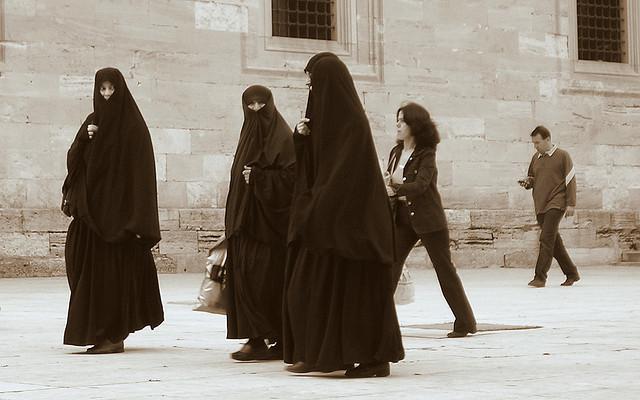 Muslim Women Strolling in Istanbul