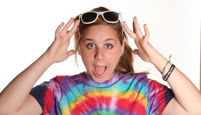 Teen Girl in Tie Dye