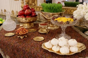 Haft-Seen, White House ceremony for new Persian Year, prepared by Laura Bush.