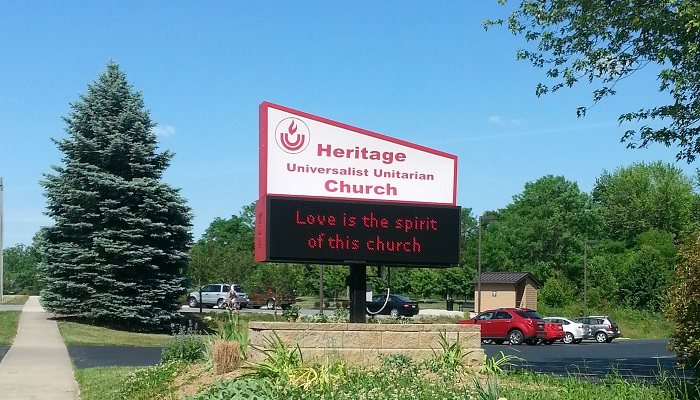 Sign - Love is the spirit of this church