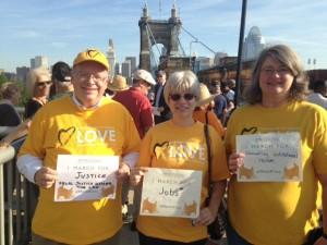 Preparing to March Across the Roebling Bridge