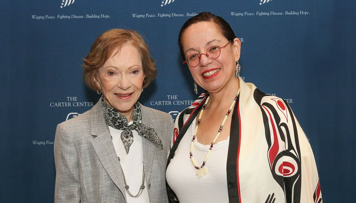 Rosalynn Carter and Mary Pember at The Carter Center