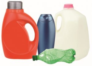 Picture of plastic jugs and bottles.