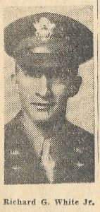Newspaper photograph of a young man in an Air Force uniform, 1941.
