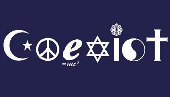 "The word ""COEXIST"" spelled with different symbols of religious or philosophical meaning."